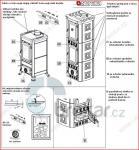 Krbová kamna FULVIA 6 kW bordó/pergamena