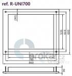 UNIFLAM 700 - dekorační rámek INOX