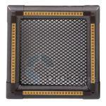 Krbová mřížka 16x16cm EXCLUSIVE grafit / mosaz patina