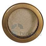 Krbová mřížka kulatá 125mm staré zlato