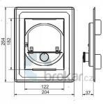 Regulátor tahu RCW do čisticího otvoru 125 x 185 mm