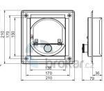 Regulátor komínového tahu čtvercový 14x14cm