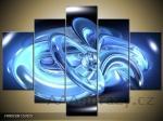 Obraz 5D - 125x70cm - Modrá abstrakce
