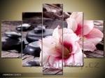 Obraz 5D 150x105 - orchideje a relaxační kameny