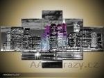 Moderní obraz 5d 125x70cm - noční město