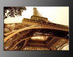 LED obraz 120x80cm vzor 818 Paříž a Eiffelova věž