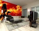 Moderní fototapeta na zeď vzor - 76 oheň abstrakce