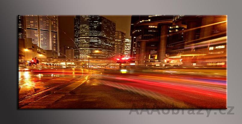 Obraz panorama 150x70cm město vzor1338