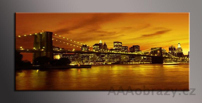 Obraz panorama 150x70cm město vzor1339