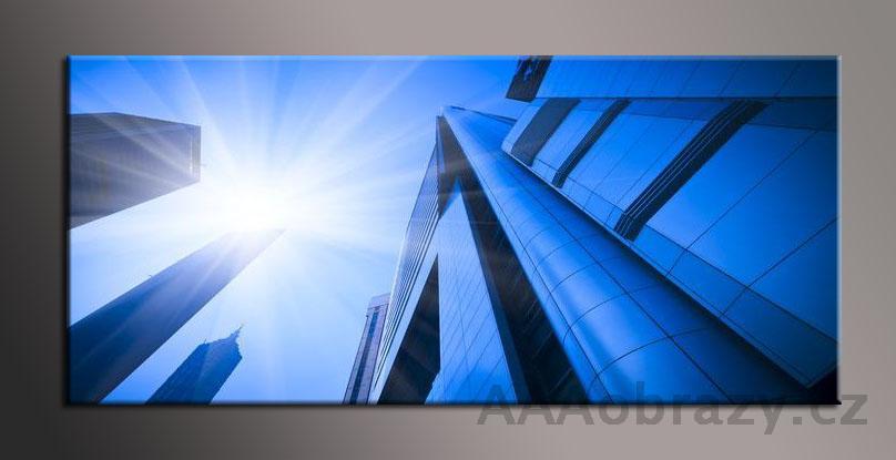Obraz panorama 150x70cm město vzor1357