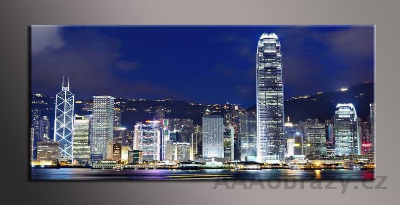 Obraz panorama 150x70cm město vzor1368