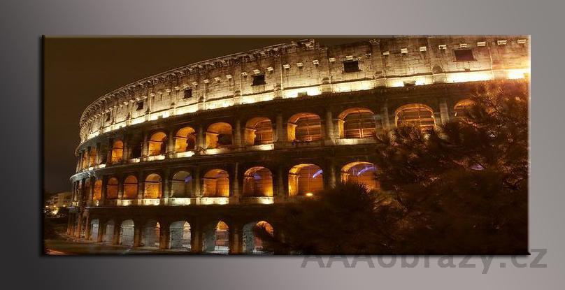 Obraz panorama 150x70cm město vzor1400