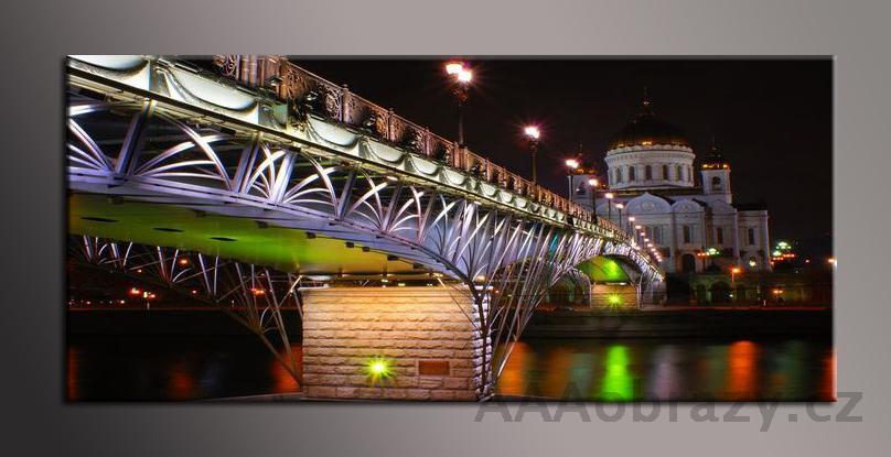 Obraz panorama 150x70cm město vzor1405