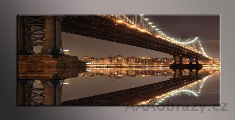 Obraz panorama 150x70cm město vzor1412
