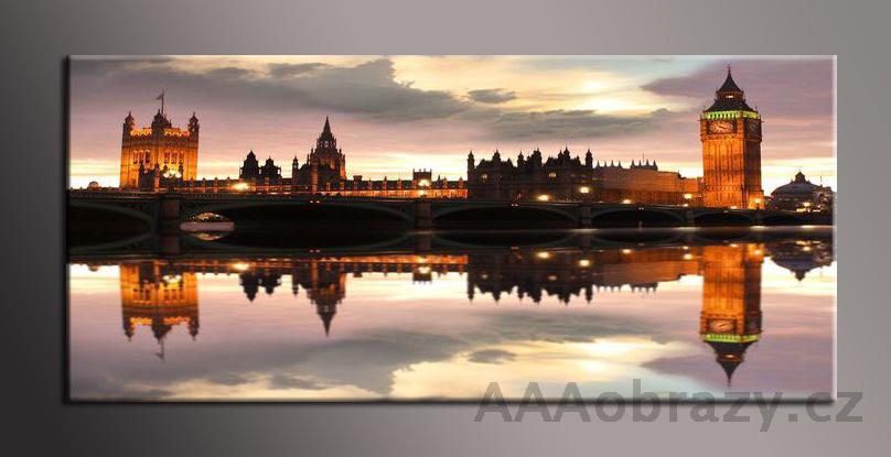 Obraz panorama 150x70cm město vzor1419