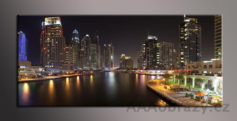 Obraz panorama 150x70cm město vzor1421