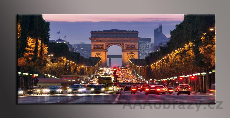 Obraz panorama 150x70cm město vzor1423