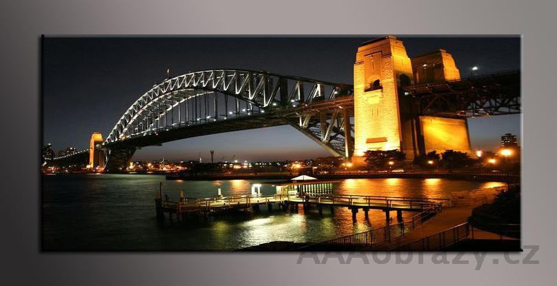 Obraz panorama 150x70cm město vzor1431