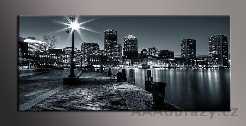 Obraz panorama 150x70cm město vzor1432