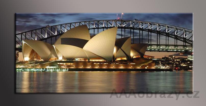 Obraz panorama 150x70cm město vzor1433