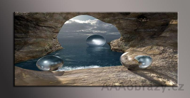 Obraz na plátně 150x70cm panorama abstrakce 1182