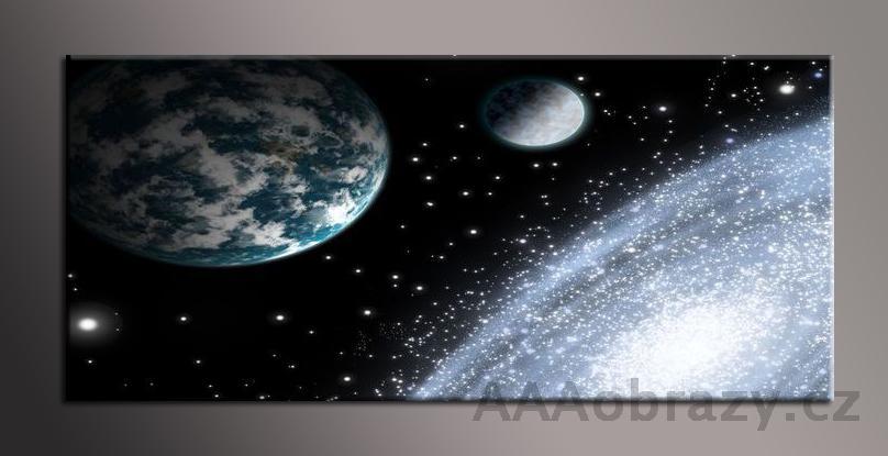 Obraz na plátně 150x70cm panorama abstrakce 1192