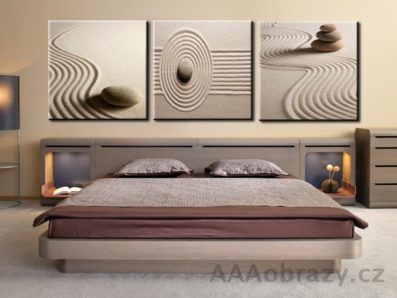 3dílný obraz 120x40cm ložnice