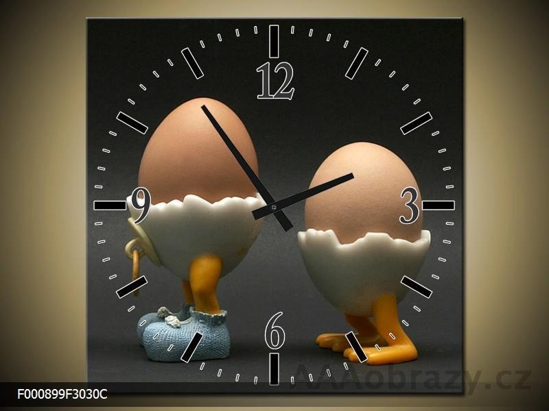 Obraz s hodinami 30x30cm vzor F004627F3030C