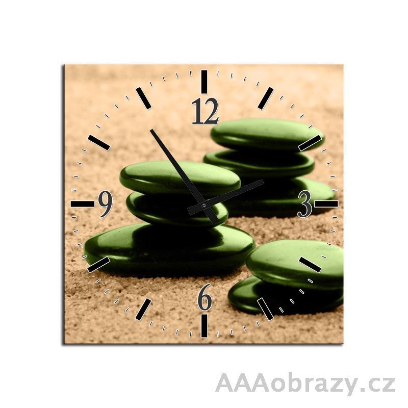 Obraz s hodinami 30x30cm vzor F004519F3030C