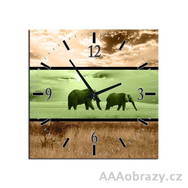 Obraz s hodinami 30x30cm vzor f004450f3030c