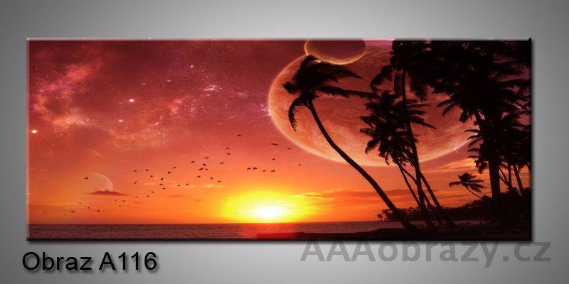 Moderní obraz 1D na plátně 150x70cm Panorama A116