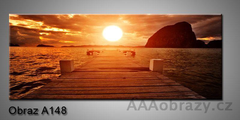 Moderní obraz 1D na plátně 150x70cm Panorama A148
