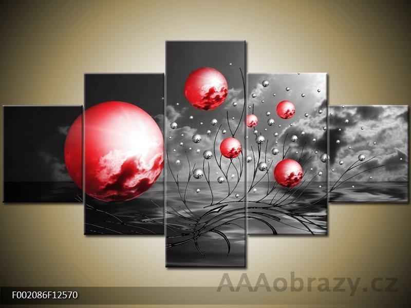 Obraz Abstrakce červená - 5D 125x70cm