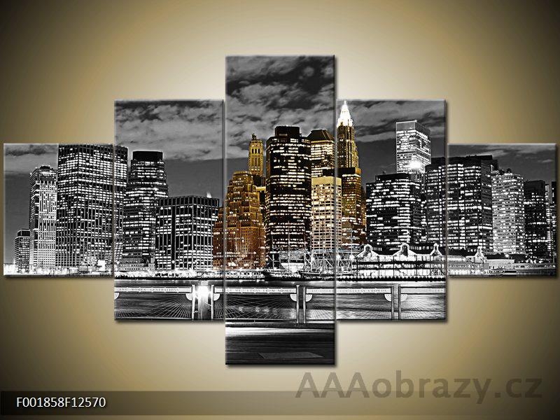 Obraz 5D - 125x70cm - NEW York 2 - noční město