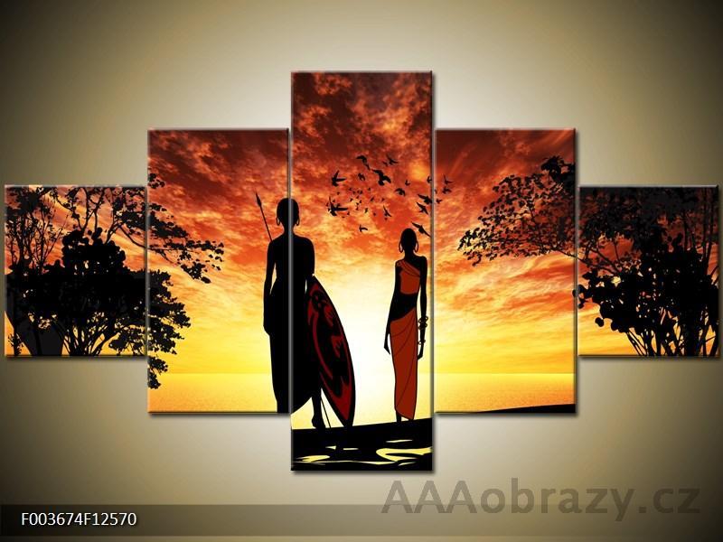 Obraz 5D 100x70cm - motiv afrika