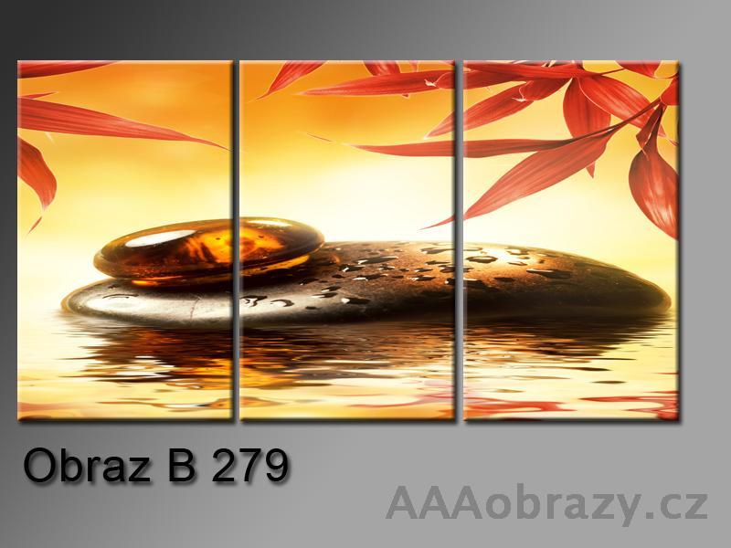 Obraz 3D relaxační kameny 150x100cm vzor 279