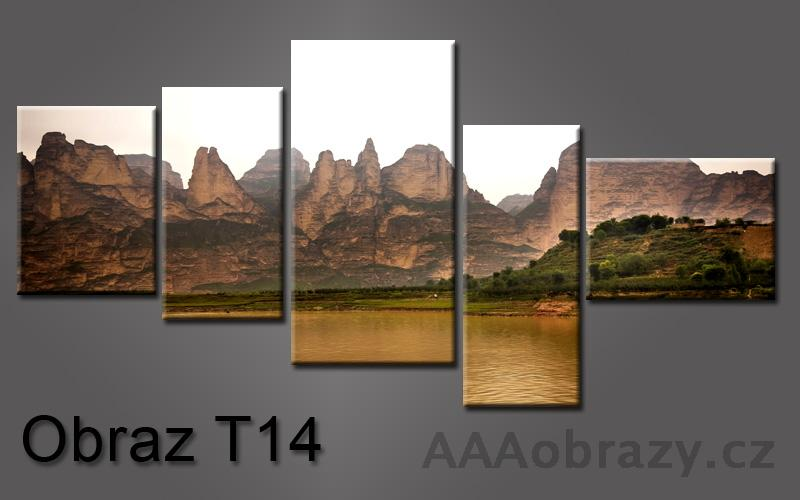 Pětidílný obraz 5D 155x80cm vzor 14