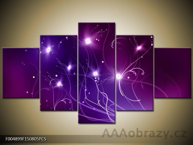 Obraz 5D - abstrakce - hvězdy 125x70cm