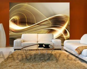 Moderní tapeta na zeď vzor 24 - abstrakce hnědá