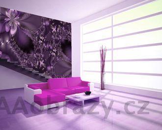 Moderní fototapeta na zeď vzor 29 abstrakce fialová