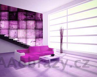 Moderní fototapeta na zeď vzor 30 abstrakce fialová