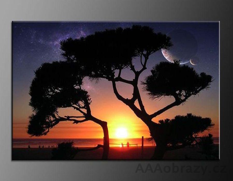 LED obraz 120x80cm vzor 59 západ slunce, moře