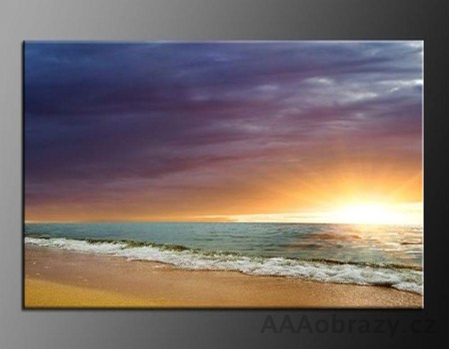 LED obraz 120x80cm vzor 171 pláž, moře, východ slunce
