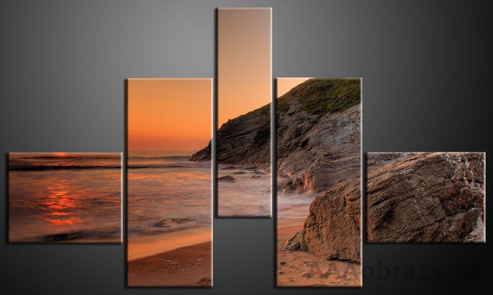 Obraz 5D 165x100cm vzor 231 pláž a západ slunce