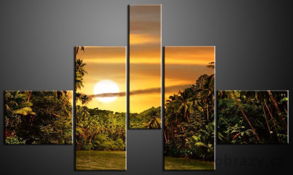Obraz 5D 165x100cm vzor 700 zátoka, západ slunce
