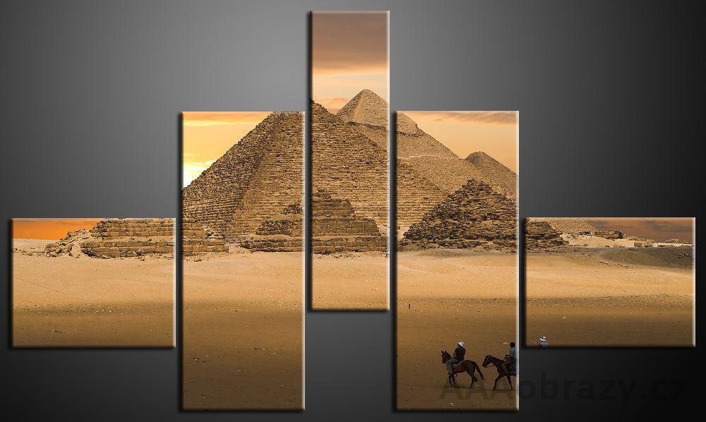 Obraz 5D 140x80cm vzor 163 egypt pyramida